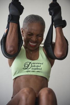 Ernestine Shephard crunches, Age 74