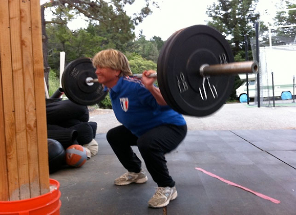 Backsquats at Boot Camp, Age 55